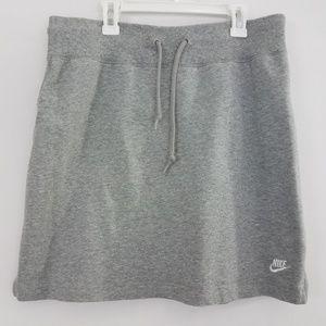 Nike Gray Heathered Athletic Skirt Med Athleisure